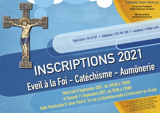 Inscriptions KT 2021-2022
